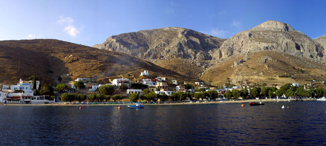 Travel to Kalymnos Photo Gallery  -  EMPORIOS FROM THE SEA